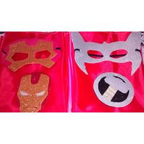25 Capa Superheroes Glitter Souvenirs Friselina C Antifaz