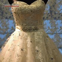 Lindo Vestido De Noiva De Alta Qualidade, Super Promoção !