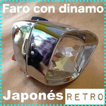 Kit Luz Faro Lampara Dinamo Bicicleta Retro Japones Vintage