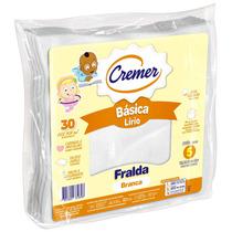 Fralda De Pano Basica Lírio Branca - Cremer