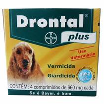 Vermífugo Bayer Drontal Plus 10kg 4 Comprimidos
