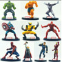 Coleção Marvel Bonecos Miniaturas Heróis Lote Com 10 U 10 Cm