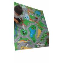 Promoção! Tapete Pista Miniaturas Carrinhos Tam 150 X 125 Cm