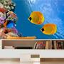 Adesivo Peixe Aquário Decoração Painel Fundo Do Mar Mod02