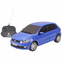 Carro Controle Remoto Volkswagen Gol Azul 1:18 Cks Toys