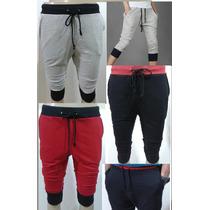 Bermuda De Moleton Saruel Skinny Jogging Pants Masculina