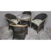 Mesa+4 Cadeiras, Jardim, Exterior, Varanda, Alumínio, Fibra