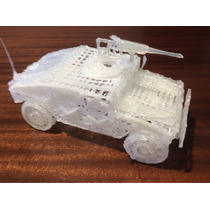 Vehículo Militar Con Lámpara Imitación Vela, Hecho A Mano