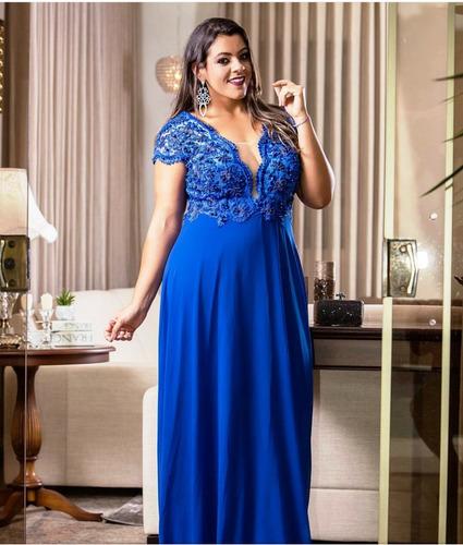 Vestido de madrinha de casamento azul mercado livre