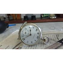 Reloj De Bolsillo Revue Watch Co Plata Solida Antiguo Cuerda
