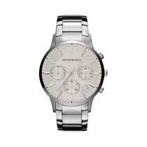 Relógio Emporio Armani Ar2458 Prata C/ Fundo Branco C/caixa