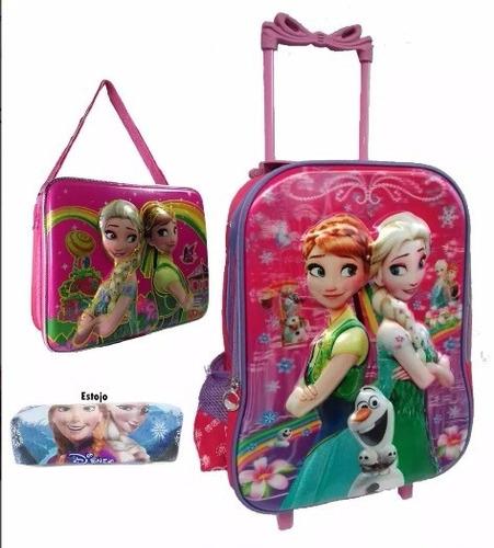 Bolsa Escolar Feminina Da Frozen : Kit mochila infantil escolar rodinha frozen lan?amento