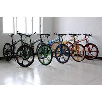 Bicicleta Mountain Bike Plegable, Llantas De Aluminio.