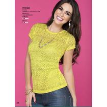 Blusa Casual-elegante Ala Moda Vintage Fashion Con Encaje