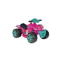 Quadriciclo Rosa Elétrico 6 V - Barbie - Bandeirante