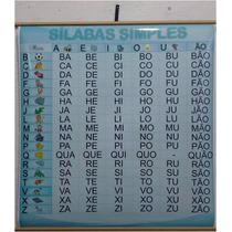 Painel Sílabas Simples 98 X 88 Cm - Alfabetização