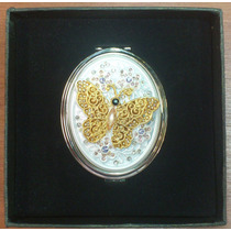 Espejo De Mujer Personal Para Bolso Con Murano Ref:6960-4