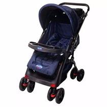 Carrinho Baby Prime Com Bebê Conforto Infinit Azul