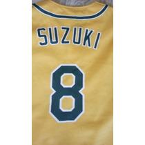 Jersey Beisbol Mlb Atleticos Oakland Ichiro Zuzuki