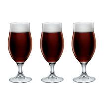Jogo 3 Copos Cerveja Executive 390ml Transparente - Bormioli
