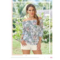 Increíble Blusa Floreada Casual-formal De Moda Cklass