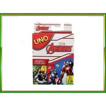 Juego Carta Uno Original De Mattel Marvel Avengers