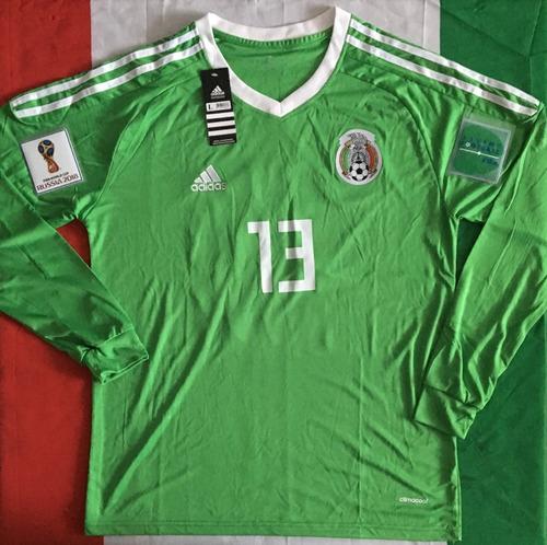 increible jersey mexico portero ochoa manga larga parch 2018. Cargando zoom. 82028d397b4d6