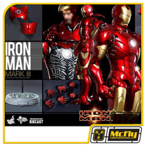 Hot Toys Iron Man Mark Iii 3 Diecast Mms256d07 Homem De Ferr