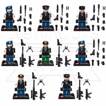 Kit Minifigures City - Polícia, Swat, Police - 8 Bonecos