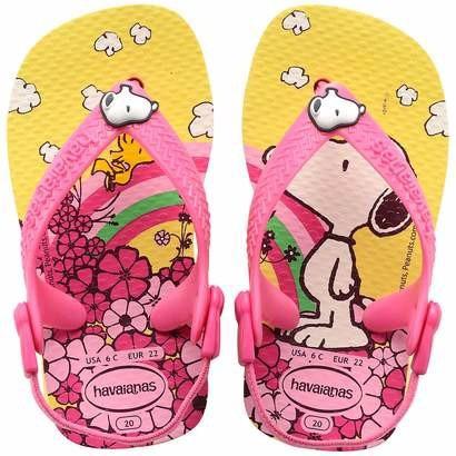 Havaianas Sandalia Para Bebé De Snoopy - $ 310.00 en Mercado Libre