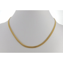 Cordão Grumet Feminino 45cm Colar Ouro 18k 750 Gargantilha