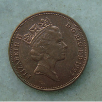 1597 Inglaterra 1997 Two Pence Elizabeth I I 26mm - Bronze