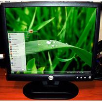 Monitor Usado Marca Dell De 15 Pulgadas Con Sus Dos Cables
