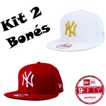 Kit 2 Bonés New Era 9fifty New York Yankees Snapback Aberto