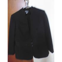Terno Dama Saco Pantalón En Casimir Nuevo Negro Talla M
