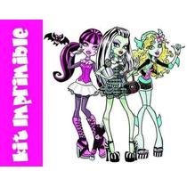 Kit Imprimible Invitaciones De Monster High Editables #3