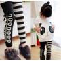 Calça Legging Infantil Listras E Laços.