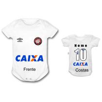 Body Personalizado Bebê Atlético Paranaense Time Futebol