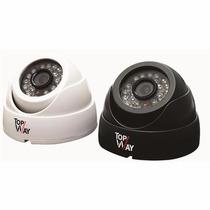 Camera Topway Dome Ccd 1/3 Sony D/n 420l 15m 3.6m Luna Black