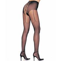 Meia-calça Fina Imita Arrastão E Cinta-liga Leg Avenue Sexy