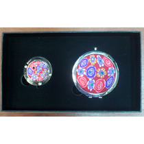 Set Espejo Y Portabolso De Mujer Personal Ref:6960-7