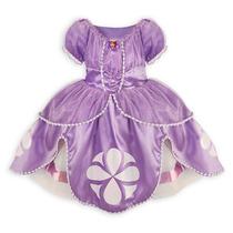 Princesa Sofia Vestido Da Loja Da Disney - Fantasia 4 Anos