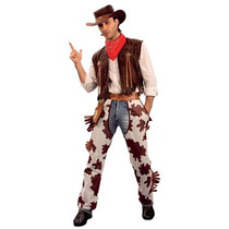 Disfraz De Vaquero Chaparreras Manchas De Vaca Para Hombre