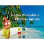 Falda Hawaiana Mediana De 60cms. Disfraz Hora Loca Playera