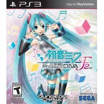 Jogo Novo Hatsune Miku Project Diva F 2nd Para Playstation 3
