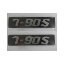 Par Emblema Resinado 7-90s Caminhão Lateral Volkswagen 790s