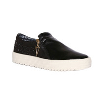 Trender Slip On Color Negro Con Estoperoles
