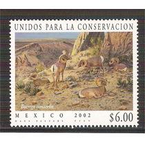 2002 Borrego Cimarrón Unidos Para La Conservación Sello Mnh.