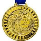 e21b6a31b Kit Com 12 Medalha Honra Ao Mérito (ouro   Prata   Bronze) - R  45 ...