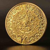 Moneda Calendario Azteca Bañada En Oro Envío Gratis